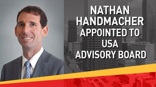 Nathan Handmacher Advisory Board for USA Center for Real Estate & Economic Development