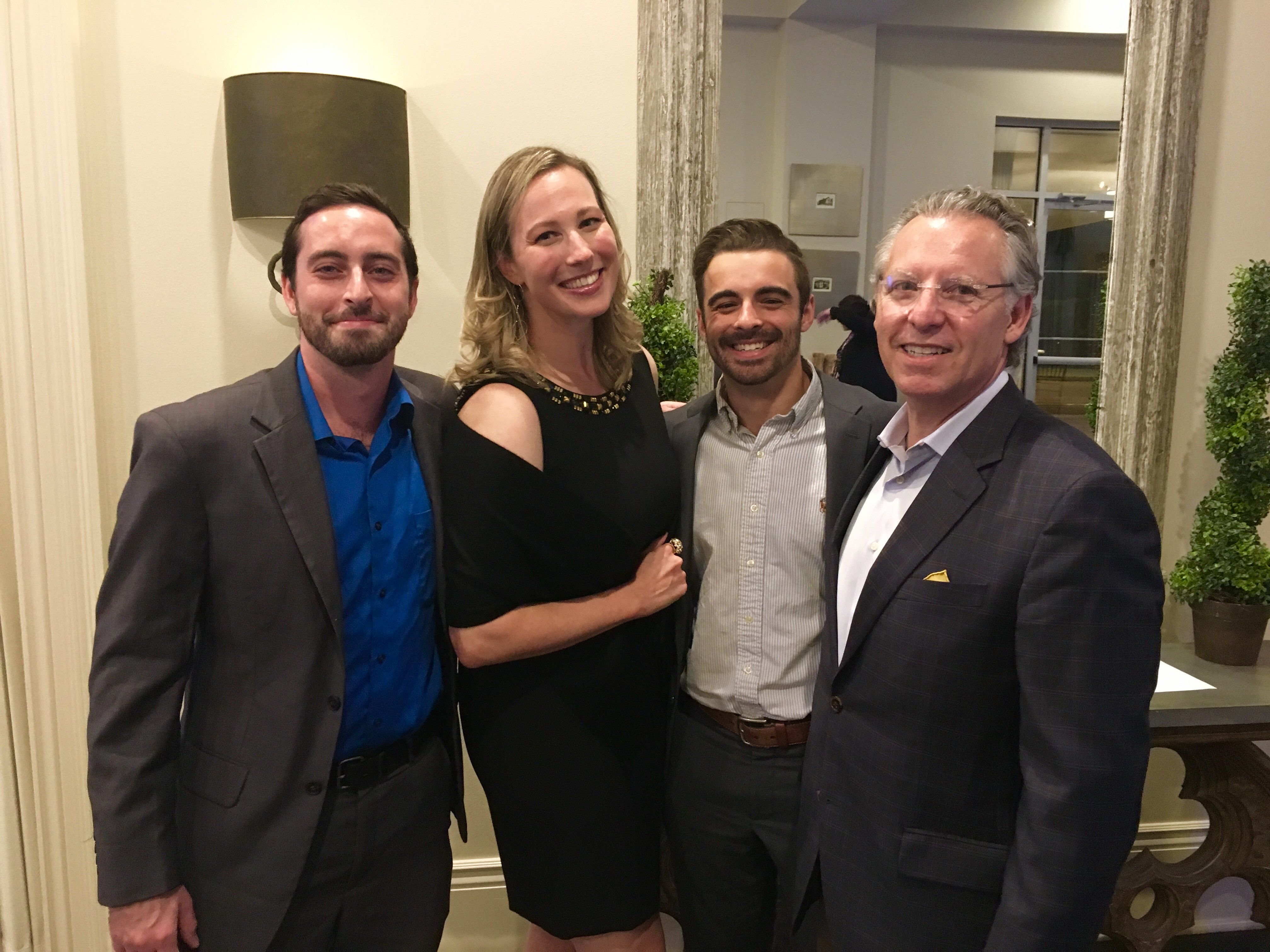 Stirling Properties employees attend the Cystic Fibrosis Foundation's Uncork the Cure