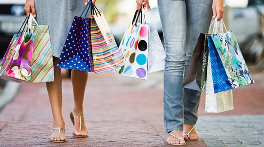 Shopping at brick-and-mortar stores