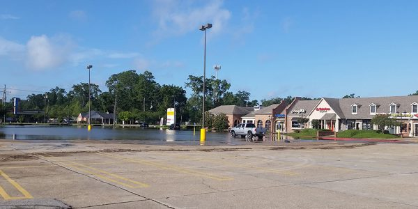 Flooded Shopping Center