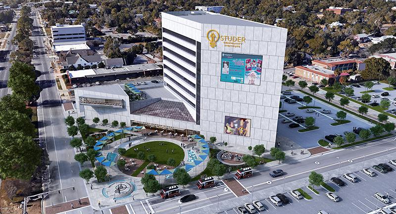 Rendering of 220 West Garden Office Tower in Pensacola, Florida