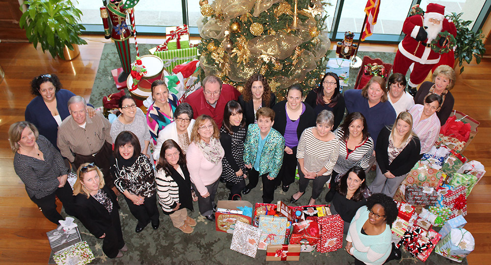 Stirling Properties Corporate Office Donations to Volunteers of America Christmas Wish Project