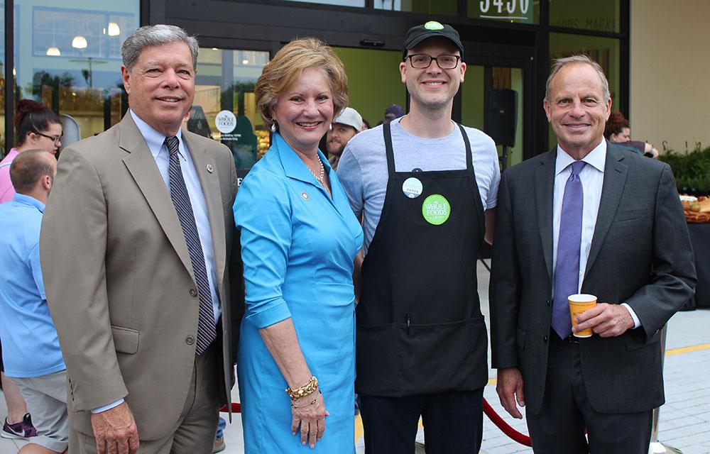 Mayor Villere, Parish President Brister, Store Team Leader Damen Williams, Marty Mayer