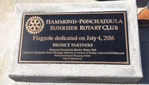 Hammond Square Flag Dedication