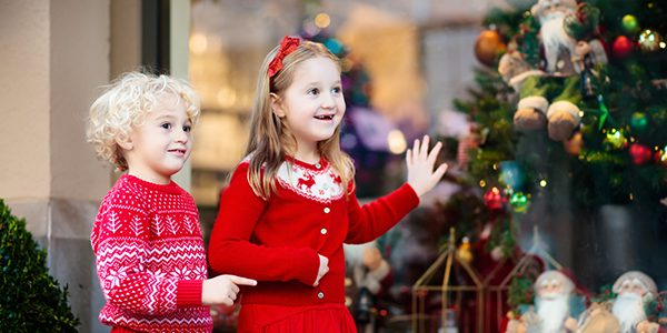 Children at Christmas at the Square