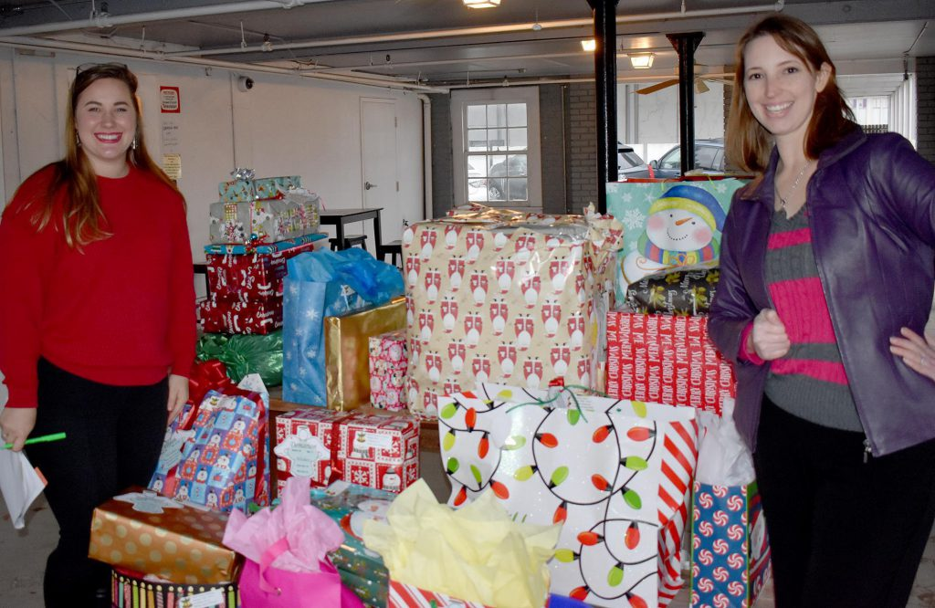 2017 Christmas Wish Dropoff -- Victoria King with Stirling Properties's Cheri