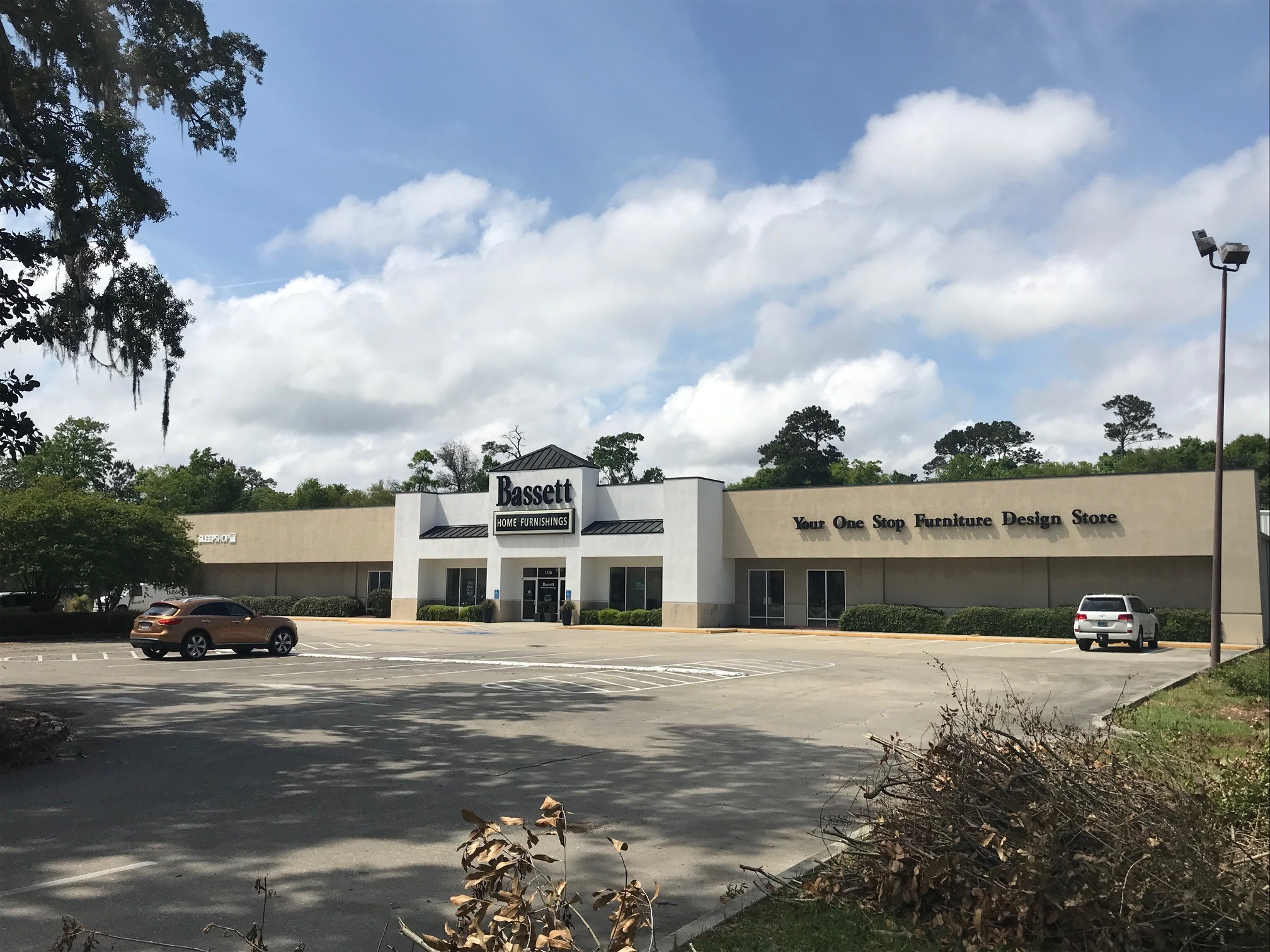 Former Bassett Home Furnishings Building in Gulfport, MS
