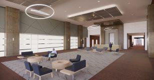 Pan American Life Center Lobby Rendering