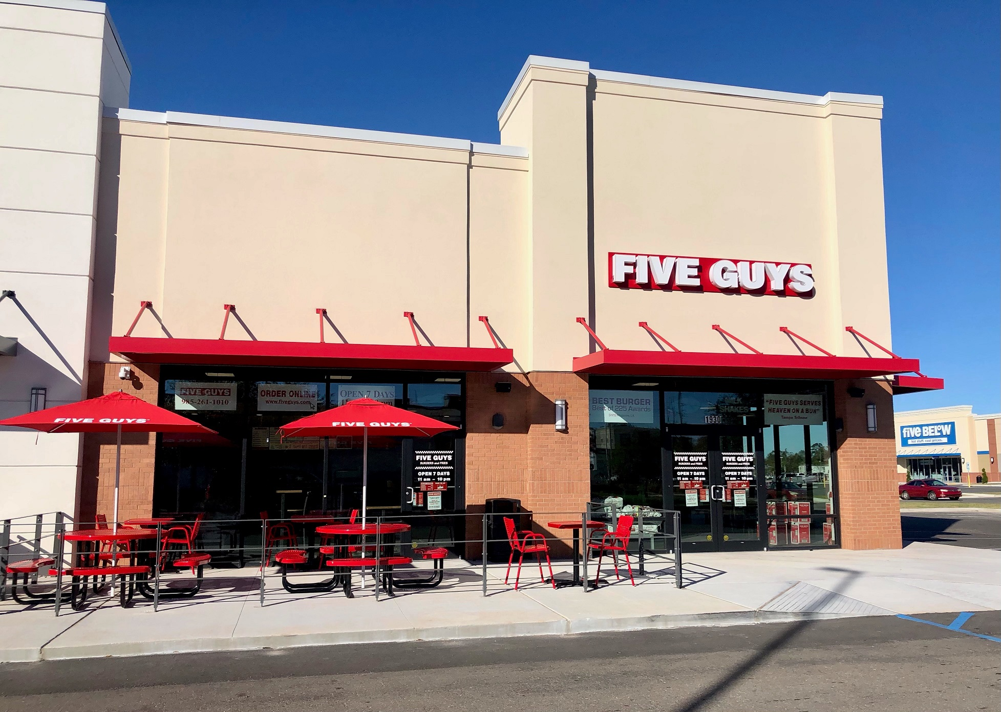 Five Guys at Hammond Square